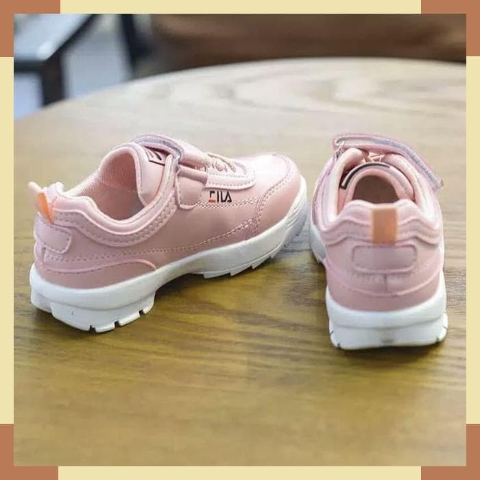 Jual Sepatu Anak Sport Sekolah Merk Fila Model Lace Up Kab