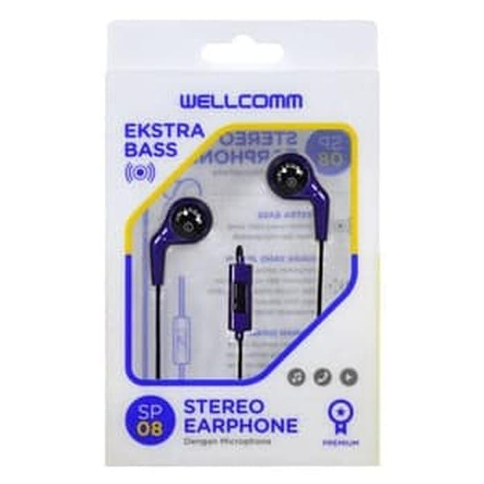 Foto Produk Earphone/Headset Wellcomm SP 08 - Turquoise dari DuaDelapan Celluler