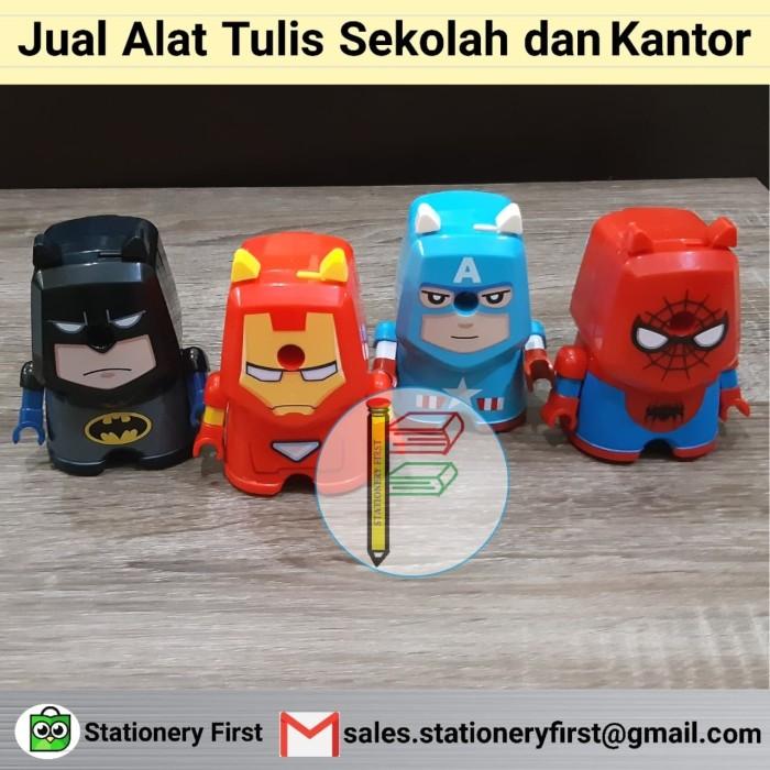Foto Produk Rautan Putar Pensil Super Hero Batman IronMan Captain Americ Spiderman dari Stationery First