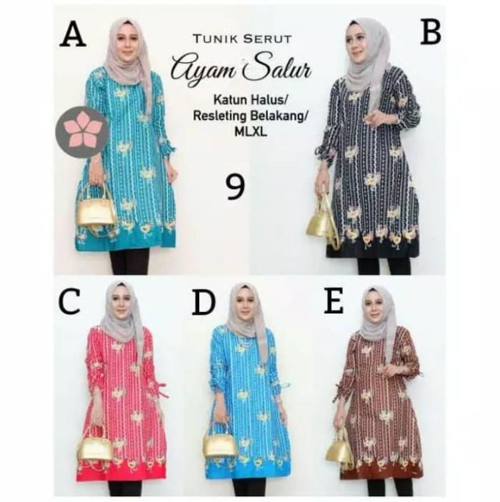 Foto Produk Batik Dress Tunik Serut Ayam salur - Cokelat, M dari yakusafashion