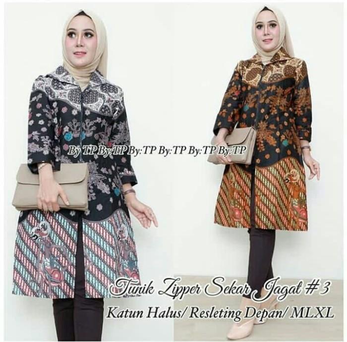 Foto Produk Batik Dress Tunik Zipper Sekar Jagal dari yakusafashion