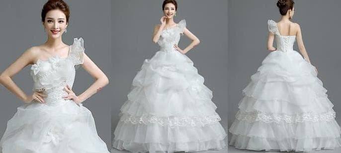 Jual Gaun Pengantin Import Prewedding Wedding Dress Gi 88857 Terbaru
