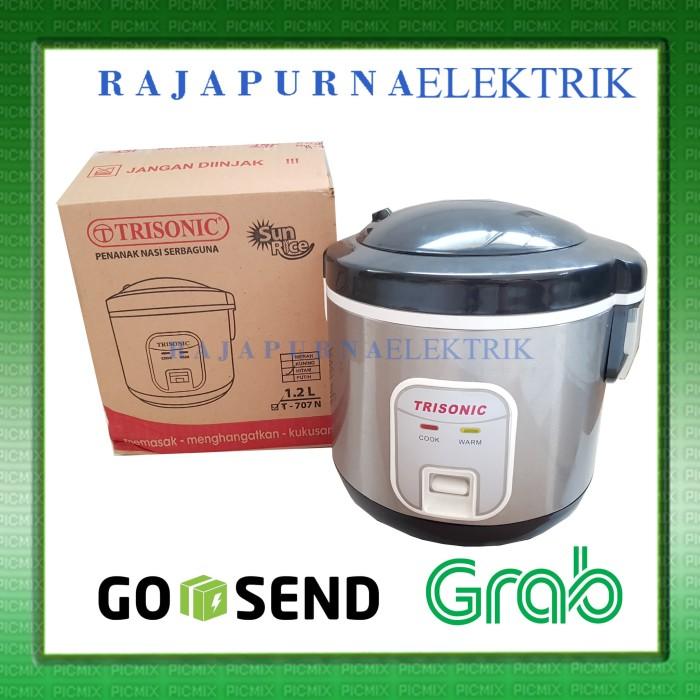 Magic Com / Penanak nasi / rice cooker 1.2 liter TRISONIC T-707N NEW! - Putih