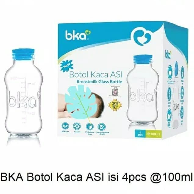 Foto Produk Bka botol kaca simpan asi isi 4 pcs dari susuasiku