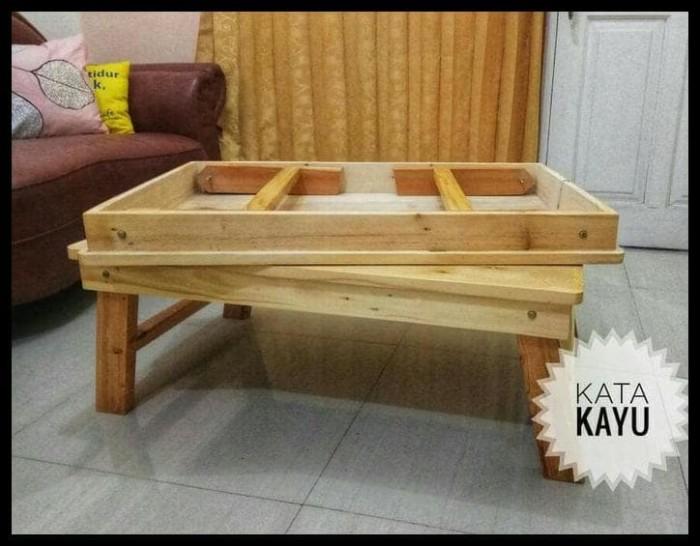 Foto Produk TERUJI Meja Kayu Lipat Serbaguna (meja laptop, meja TV, meja dari ninakhoerunisa17