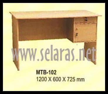 Foto Produk TERPERCAYA Meja Kantor Meja Kerja 1/2 Biro Big Panel MTB 102 Beech dari ninakhoerunisa17