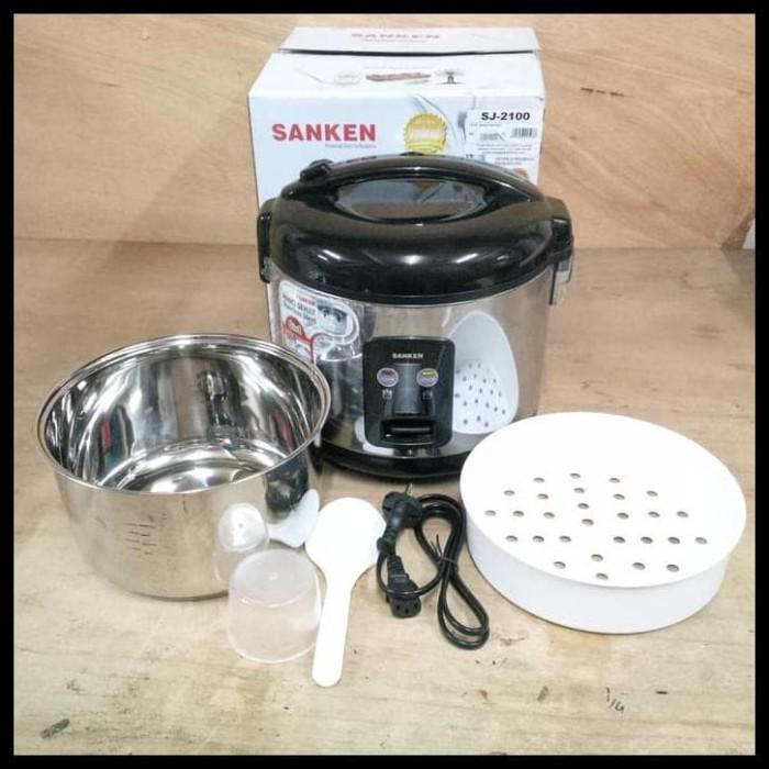 Foto Produk TERBATAS Sanken Magic Com Rice Cooker 1.8L Stainless Steel SJ2100 dari rizkysetyaharta16