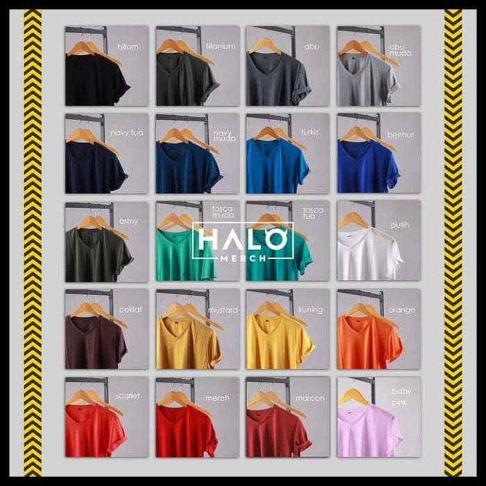 Foto Produk TERUJI Kaos Polos Katun Bambu V-Neck Lengan Panjang dari huseinabubakar11
