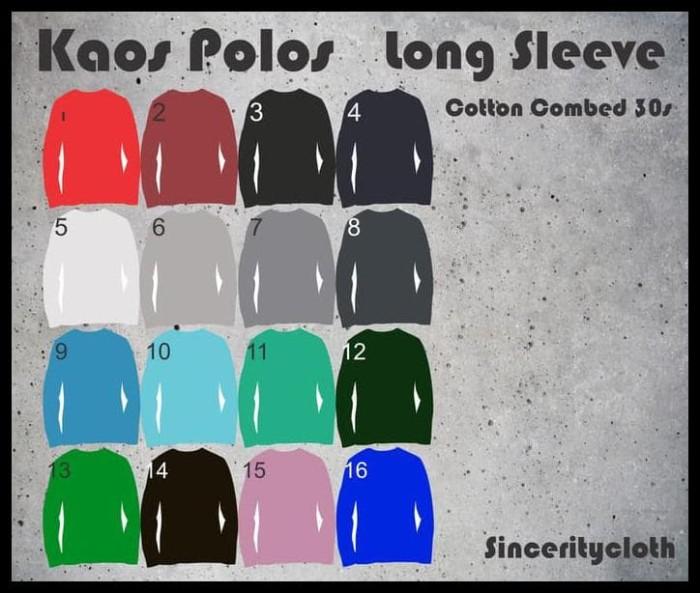 Foto Produk BERKUALITAS Kaos Polos Cotton Combed 30s Long Sleeve Size XL dari huseinabubakar11