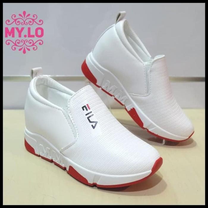 PROMO SPECIAL sepatu fila wedges casual slipon kets putih wanita mylo 81f830c2aa