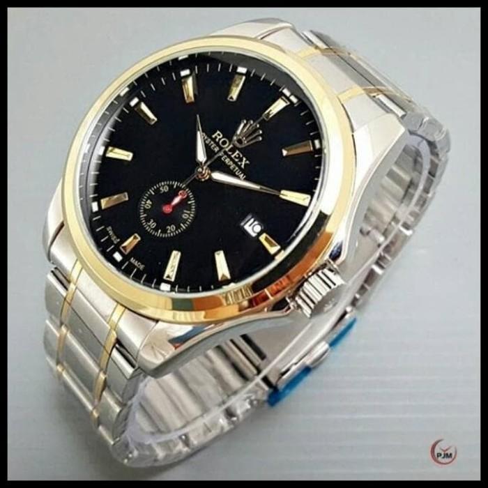 Foto Produk PROMO Jam Tangan Pria Rolex Automatic Mesin Terlaris - Kombinasi Hitam dari syarifahrifa98