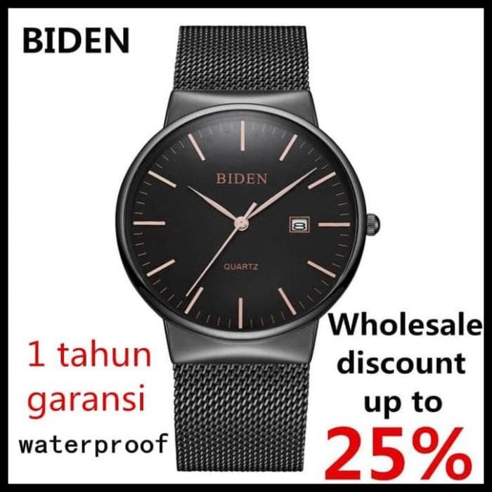 Foto Produk TERMURAH jam tangan pria BIDEN Analog Stainless Steel Mewah Mode dari syarifahrifa98
