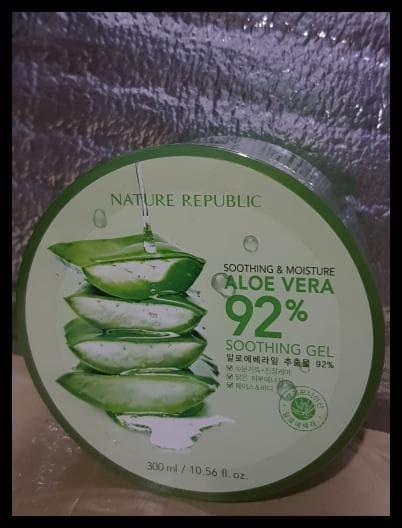 Foto Produk BIG SALE NATURE REPUBLIC ALOE VERA 92% ORIGINAL YA!! ORI ORI ORI dari fadlicahyamegawanto57