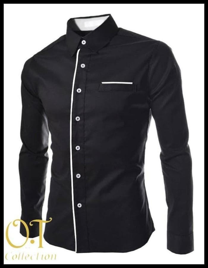Foto Produk SPECIAL hem peter black xl OT pakaian pria kemeja slim fit ukuran xl dari alawi.ahmad11