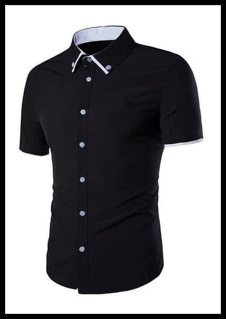 Foto Produk PROMO SPECIAL fredd black OT kemeja pria katun stretch hitam dari alawi.ahmad11
