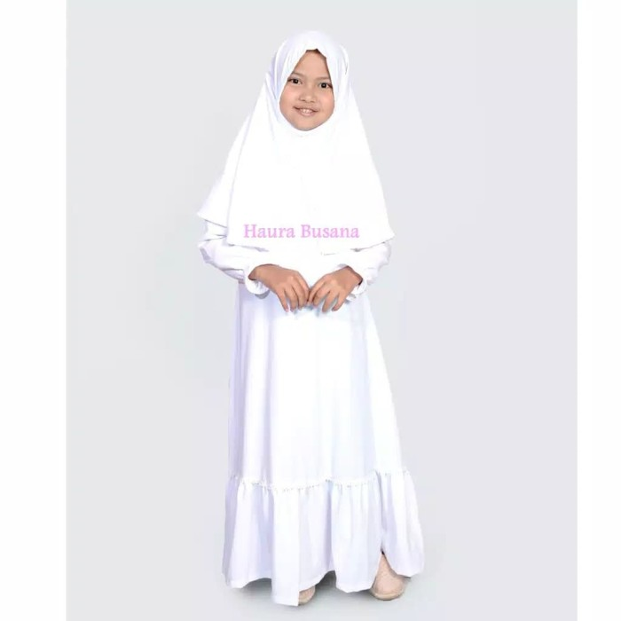 Jual baju manasik haji anak. syari gamis jubah muslim anak perempuan ... 2b5ce483fd