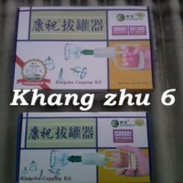 Foto Produk Kang Zhu isi 6 Alat Bekam Kop Angin Cupping Therapy Set KangZhu murah dari Alkes Sukses Makmur