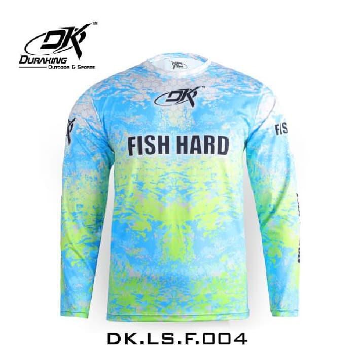 Foto Produk Duraking Jersey Longsleeve Light Blue Fish Hard - Biru Muda, S dari Go.Fishing