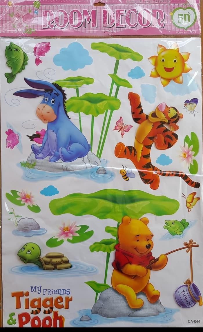Jual STIKER DINDING WALL STICKERS WALLPAPER 3D WINNIE THE POOH ROOM DECOR Kab Pati Susmunolshop