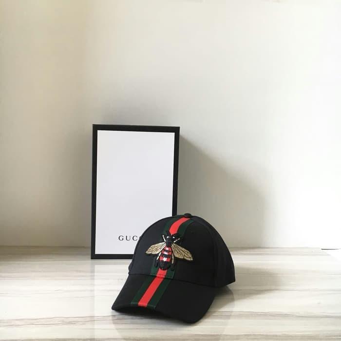 eac86ecbd121ed Jual GUCCI BEE CAP BLACK MIRROR 1:1 QLTY MADE IN HONGKONG!! - Kezia ...