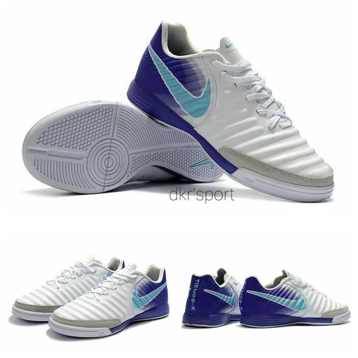 Jual Sepatu Futsal Nike Tiempo X Ligeria IV  white purple   - Putih ... c843770d60