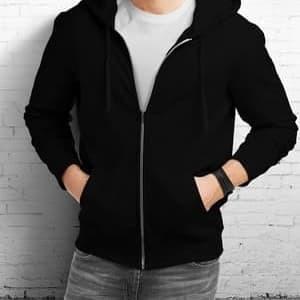 Foto Produk Jaket Hoodie sweater - Hitam, XL dari Aju Fashion