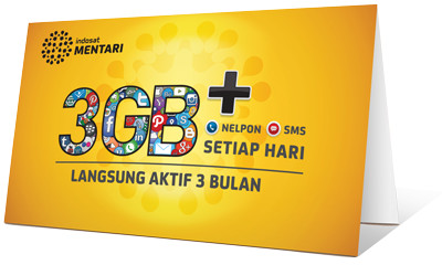 Foto Produk Kartu Perdana Mentari 3GB   Nelpon dan SMS dari mmallaphone