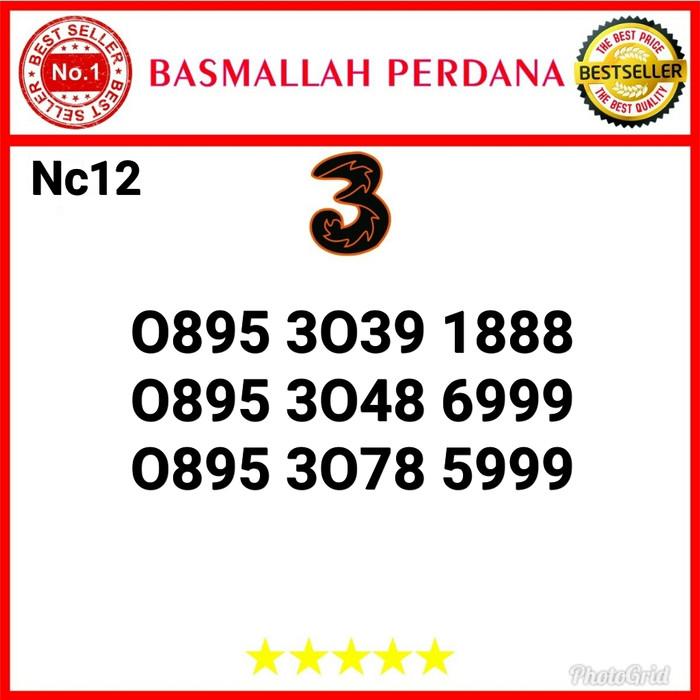 Foto Produk Nomor Cantik Three Seri Triple 999 0895 3039 1888 Nc12 dari basmallah cell