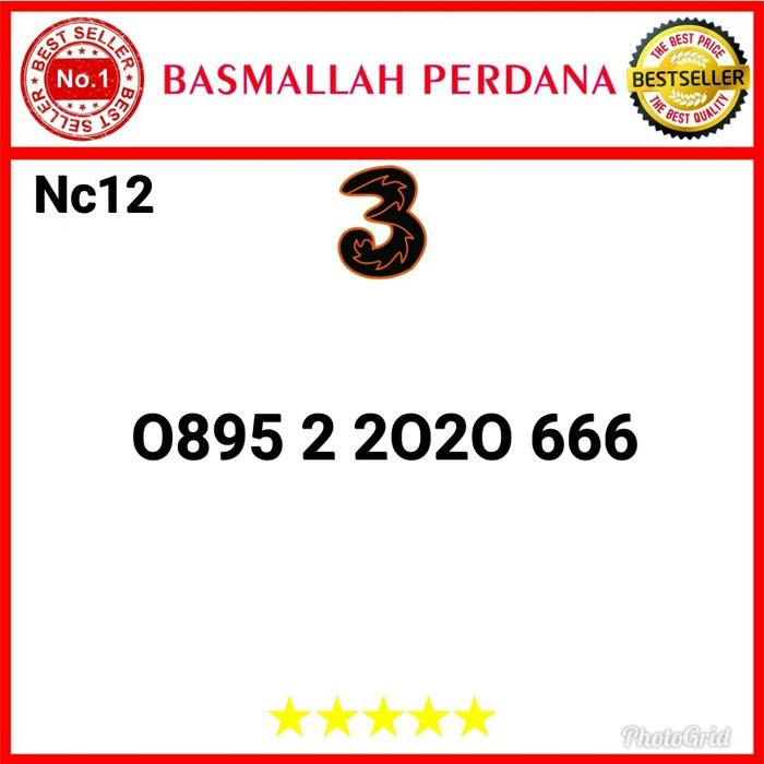Foto Produk Nomor Cantik Three Seri Abab 2020 Triple 666 0895 2 2020 666 Nc12 dari basmallah cell