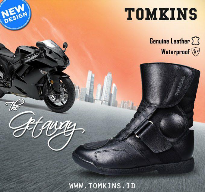 harga Sepatu touring boots tomkins the getaway not sidi,alpinestar,harley Tokopedia.com