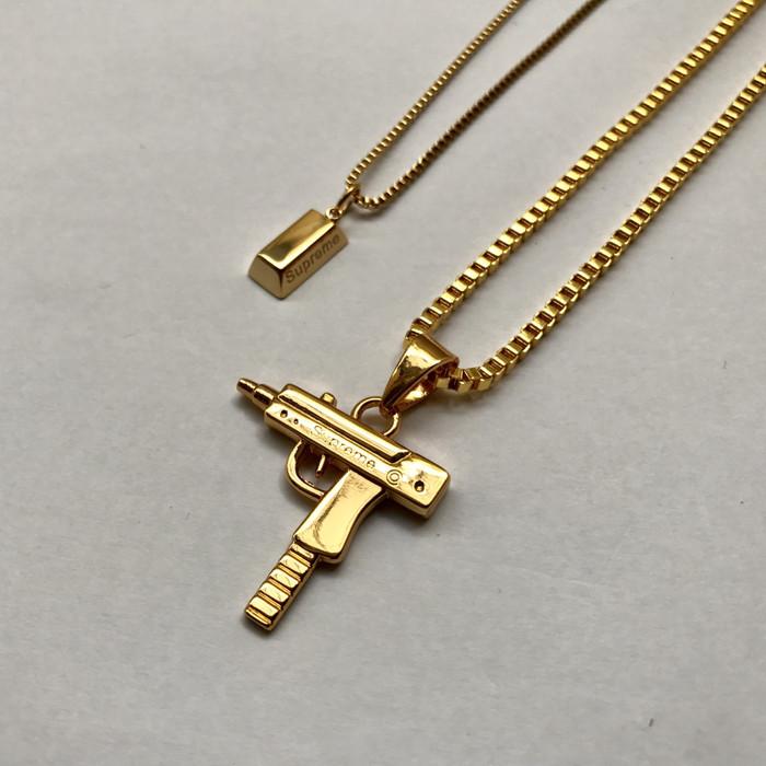 harga Supreme gold chain uzi Tokopedia.com