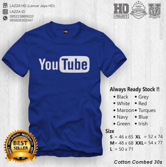 Kaos Distro Youtube You Tube Tshirt Cowok Pria Baju Hitam Tomyliston.  Source.   Kaos   Baju   T-shirt Distro Youtube Keren Murah Fashion Pria  Wanita 084e69b2f8