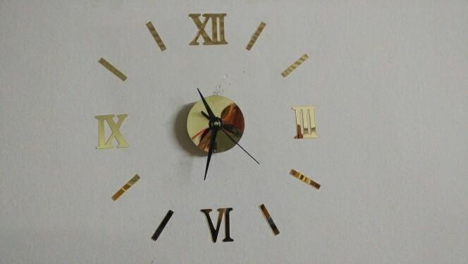 jam dinding clock stiker kado hadiah valentine day pernikahan istri