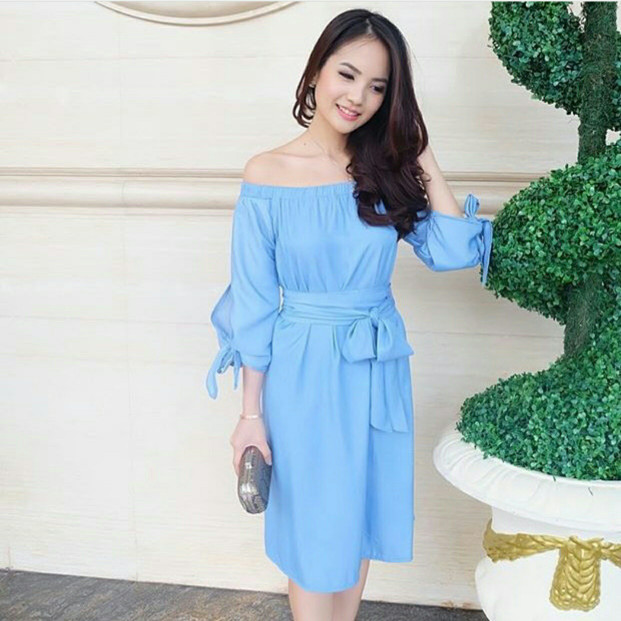 harga New! xo - dress olla denim tshirt wanita fashion wanita blouse wanita Tokopedia.com