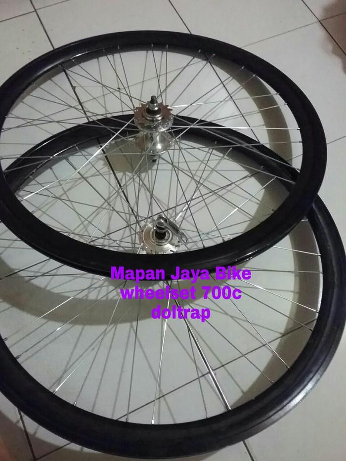 harga Wheelset 700 sepeda fixie 4,5cm hole 32 doltrap Tokopedia.com