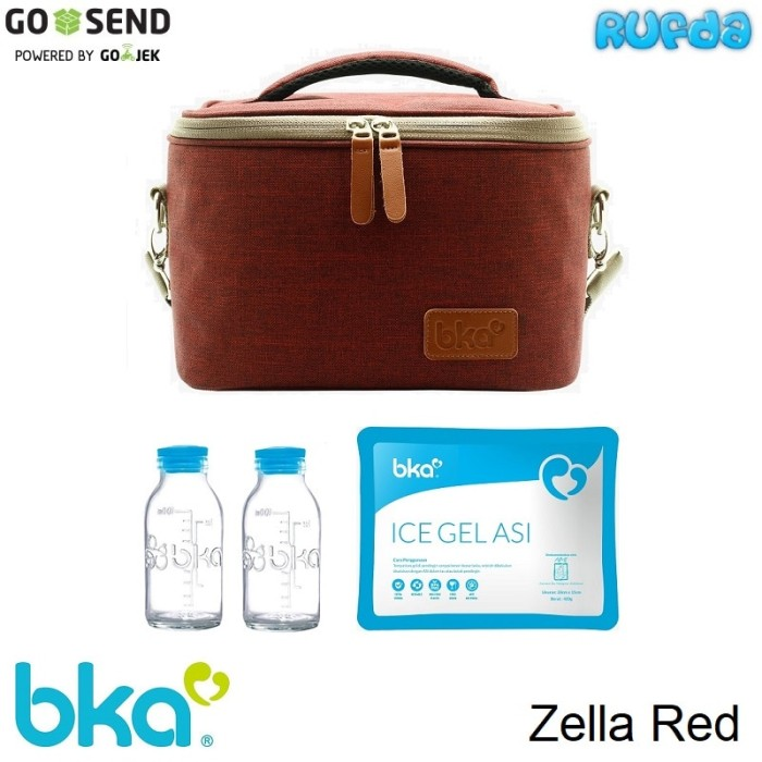 Bka coolerbag red zella tas pendingin asi perah cooler bag