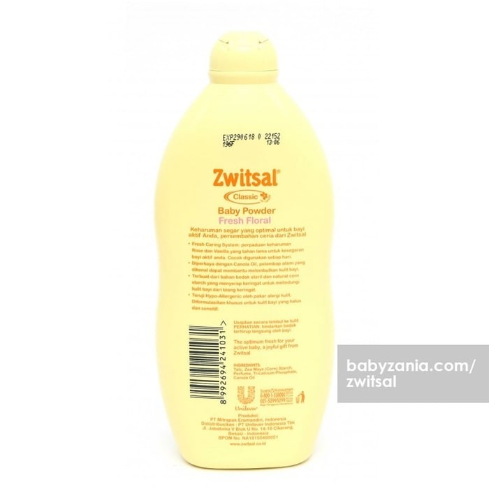 Zwitsal Classic Baby Powder Fresh Floral 500 gr MURAH .