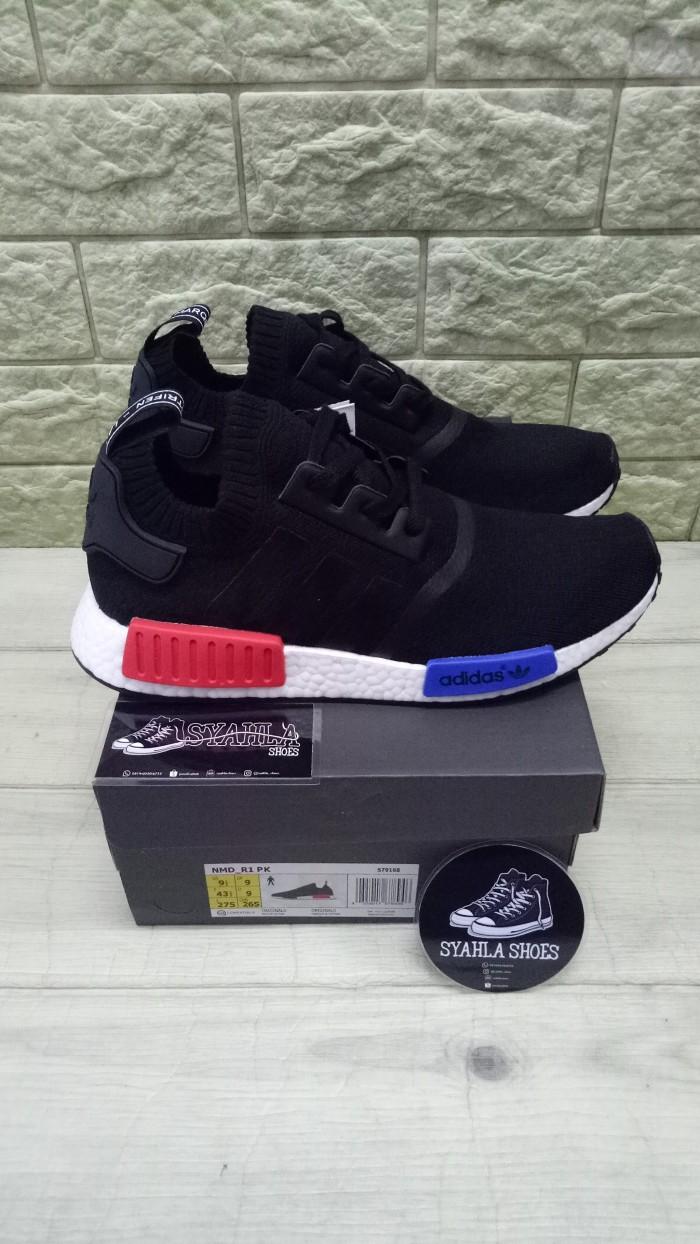 4335da96bc021 ... where to buy adidas nmd r1 og primeknit core black blue red ua pk  quality c40ce