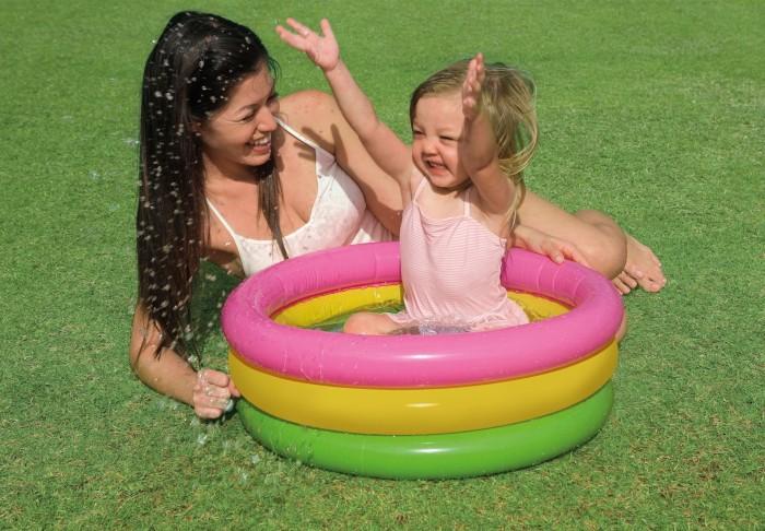 Kolam renang bayi 3 ring / kolam karet - angin intex 57107 baby pool