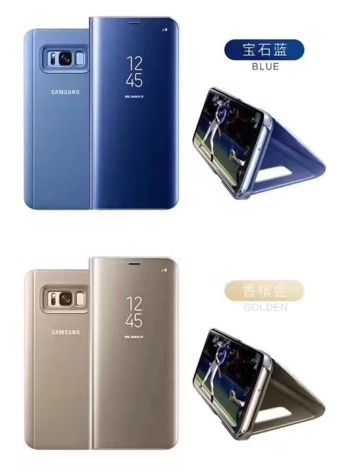 size 40 004c2 bd4f9 Jual NEW FLIP MIRROR SAMSUNG A5 2017 A520 CLEAR VIEW STAND COVER AUTOLOCK -  Joker Accessories   Tokopedia
