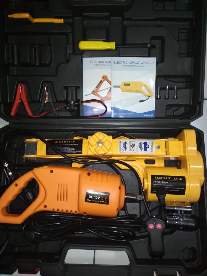 DONGKRAK ELEKTRIK / ELECTRIC CAR JACK 2TON Set Pembuka Baut