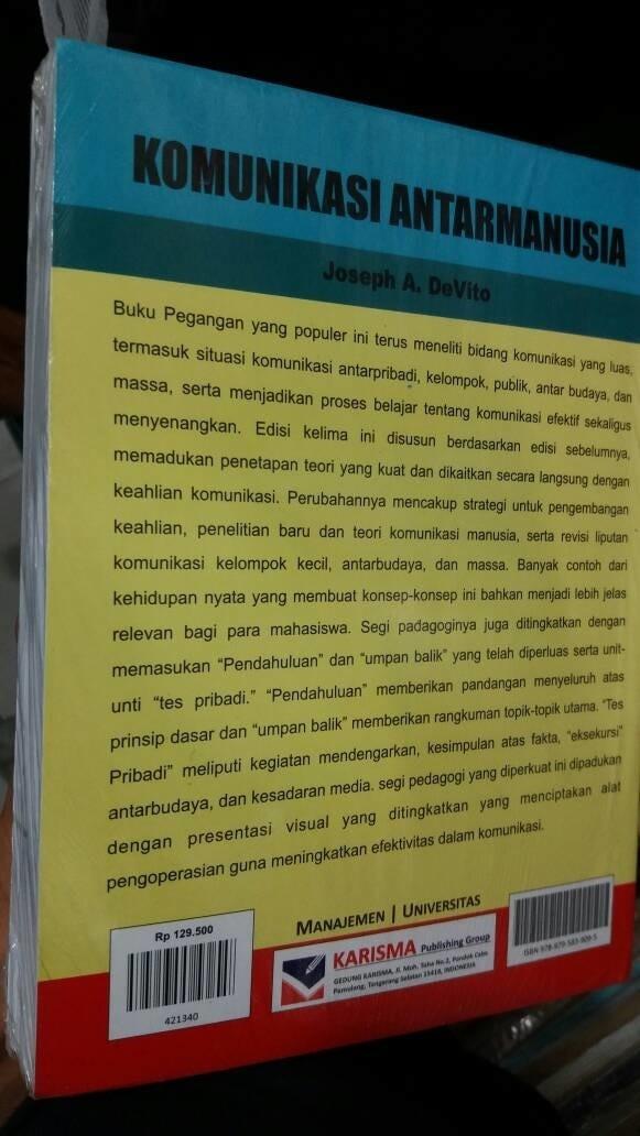Jual BUKU TERBARU Komunikasi Antar Manusia By Josep A Devito Jakarta Barat BUKU LKA