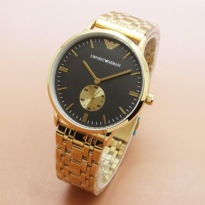... harga Jam tangan pria emporio armani 8485 rantai black gold  Tokopedia.com 21059b64f3