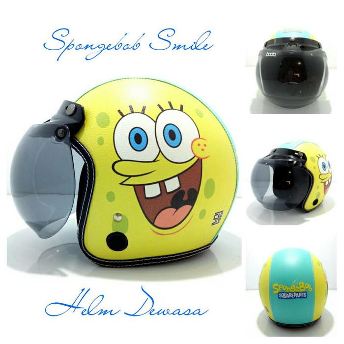 harga Helm bogo retro sni kulit spongebob smile kaca bogo ori Tokopedia.com