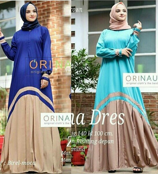 Jual Gamis Maxi Dress Longdress Baju Muslim Hijab Pesta Elegan Unik