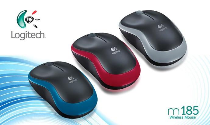 Mouse logitech m185 bluetooth / comfort optical wireless nano receiver
