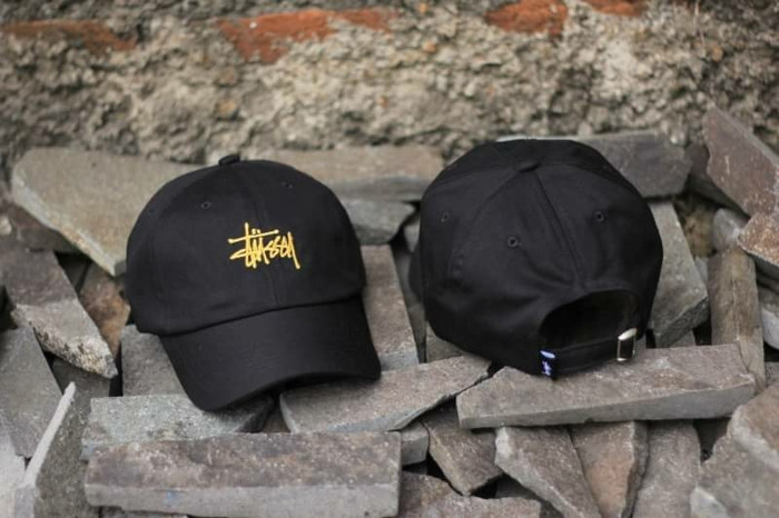 4cf464c490a Jual TOPI DADHAT STUSSY CAP BLACK YELLOW - peanuts skate