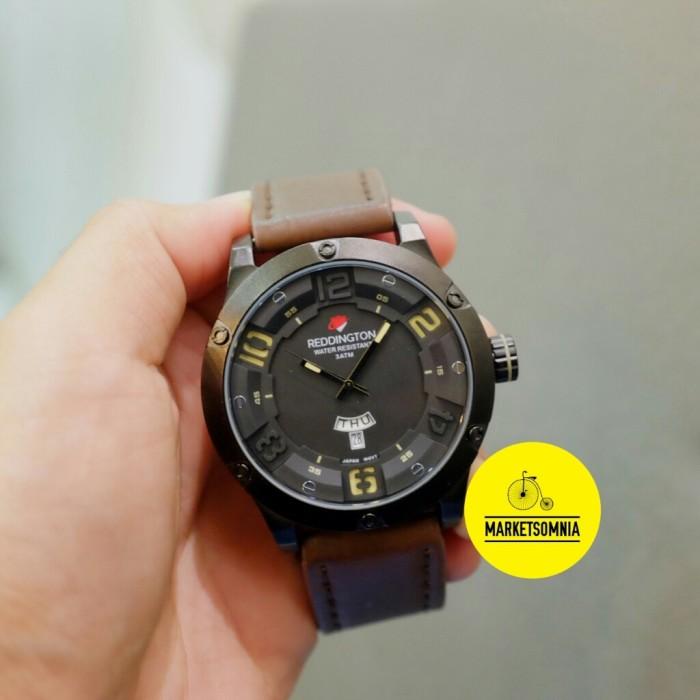 harga Jam tangan pria / cowok reddington original leather / kulit coklat Tokopedia.com