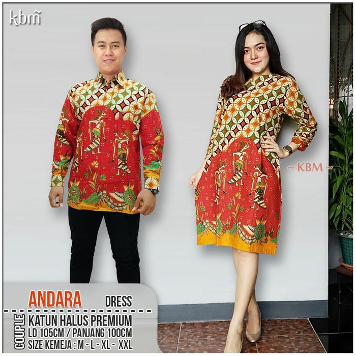 Jual Sarimbit Dress Batik Andara Dress Couple Model Terbaru f0d2282320