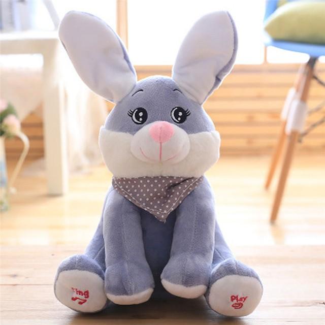 Foto Produk Mainan Boneka Kelinci Bernyanyi Dan Ciluk Baa Peek a Boo Hadiah Anak dari Meliyana Store